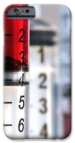Jab iPhone Cases - Syringes iPhone Case by Crown Copyrighthealth & Safety Laboratory