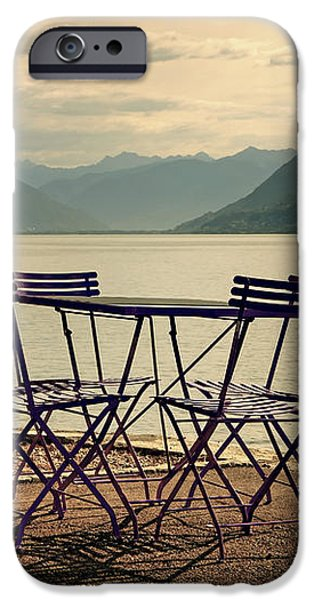 table and chairs iPhone Case by Joana Kruse