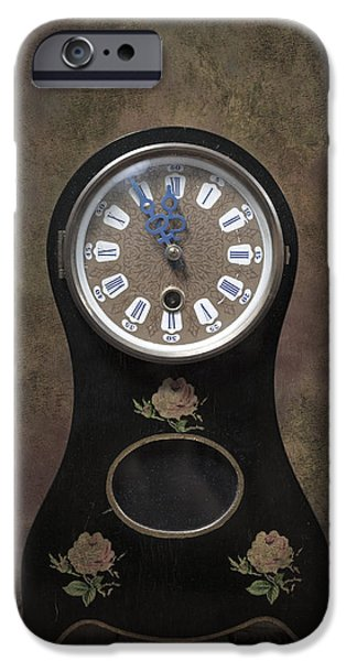 Clock iPhone Cases - Table Clock iPhone Case by Joana Kruse