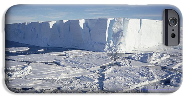Break Fast iPhone Cases - Tabular Iceberg With Broken Fast Ice iPhone Case by Tui De Roy