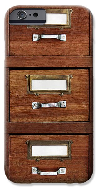 tagged drawers iPhone Case by Carlos Caetano
