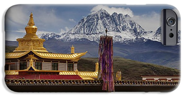 Buddhist iPhone Cases - Tagong Si Monastery Buddhist Temple iPhone Case by Phil Borges