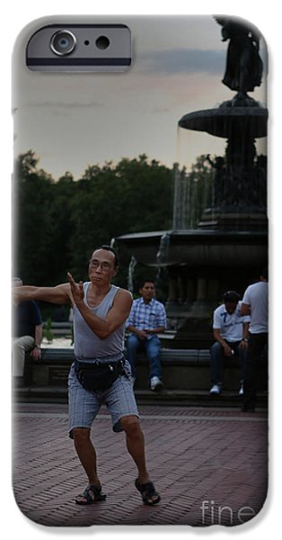 Tai Chi in the Park iPhone Case by Lee Dos Santos