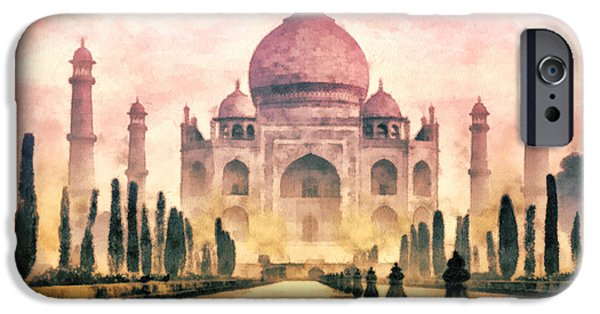 Building iPhone Cases - Taj Mahal iPhone Case by Mo T