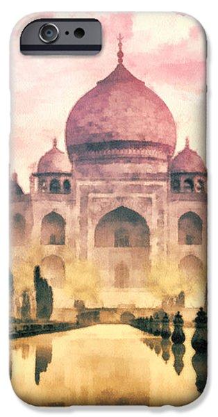 Taj Mahal iPhone Case by Mo T