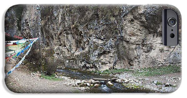 Tibetan Buddhism iPhone Cases - Taktsang Lhamo Path iPhone Case by Phil Borges