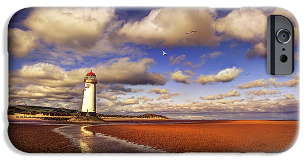 Lighthouses iPhone Cases - Talacre Lighthouse iPhone Case by Mal Bray