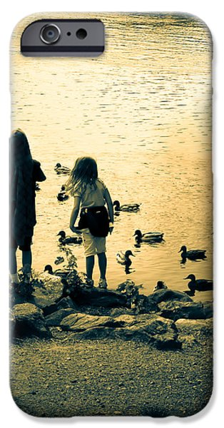 Talking to ducks iPhone Case by Bob Orsillo