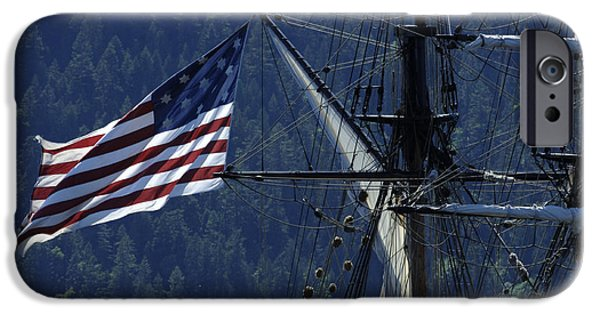Old Glory iPhone Cases - Tall Ship 3 iPhone Case by Bob Christopher