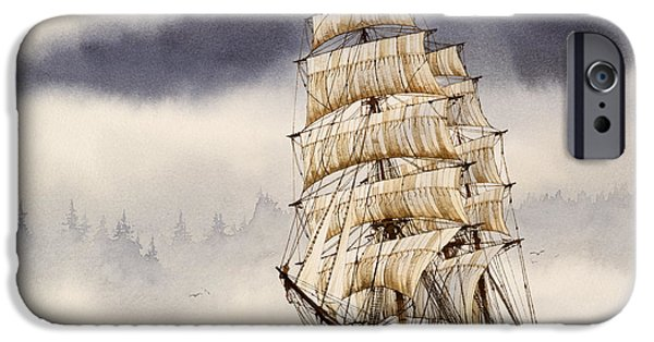 Tall Ship iPhone Cases - Tall Ship Adventure iPhone Case by James Williamson