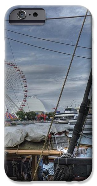 Tall Ships at Navy Pier iPhone Case by David Bearden