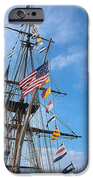 Tall Ships Banners iPhone Case by David Bearden