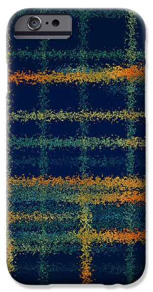 Tangerine Plaid iPhone Case by Bonnie Bruno