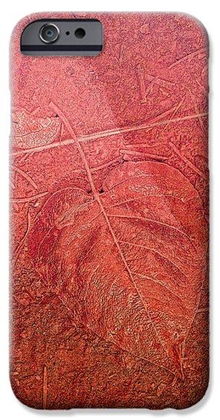 Tangerine Tango Heart iPhone Case by Bonnie Bruno
