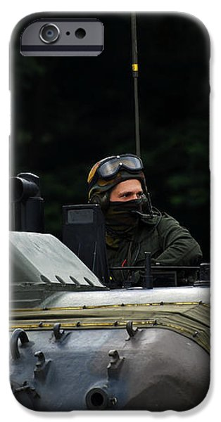 Tank Commander Of A Leopard 1a5 Mbt iPhone Case by Luc De Jaeger
