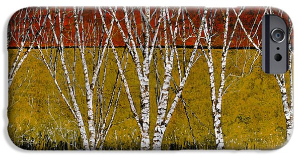 Branch iPhone Cases - Tante Betulle iPhone Case by Guido Borelli