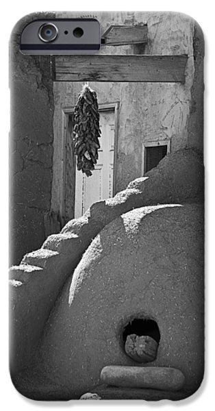 Pueblo Architecture iPhone Cases - Taos Pueblo Oven iPhone Case by Melany Sarafis