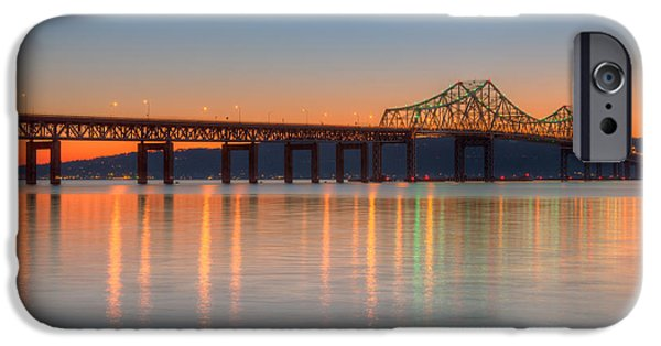 Empire State iPhone Cases - Tappan Zee Bridge after Sunset II iPhone Case by Clarence Holmes
