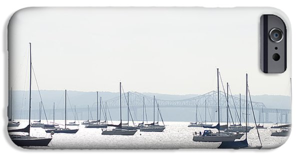 Hudson River Digital iPhone Cases - Tappan Zee Bridge - Nyack New York iPhone Case by Bill Cannon