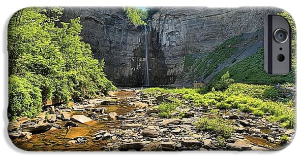 Taughannock Falls iPhone Cases - Taughannock Falls iPhone Case by Adam Jewell