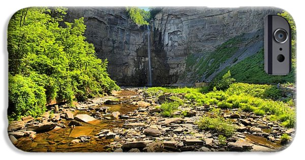 Taughannock Falls iPhone Cases - Taughannock Falls Canyon iPhone Case by Adam Jewell