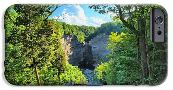 Taughannock Falls iPhone Cases - Taughannock Falls Overlook iPhone Case by Adam Jewell