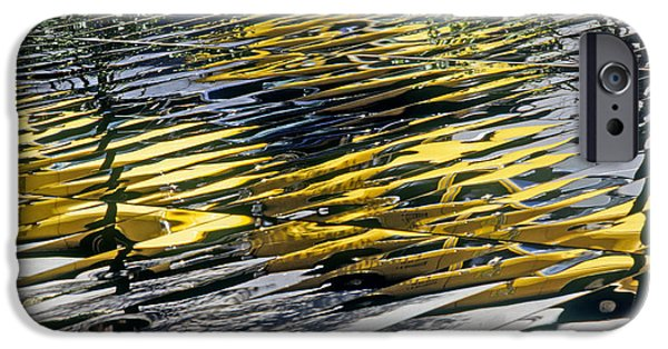 Business Photographs iPhone Cases - Taxi Abstract iPhone Case by Tony Cordoza