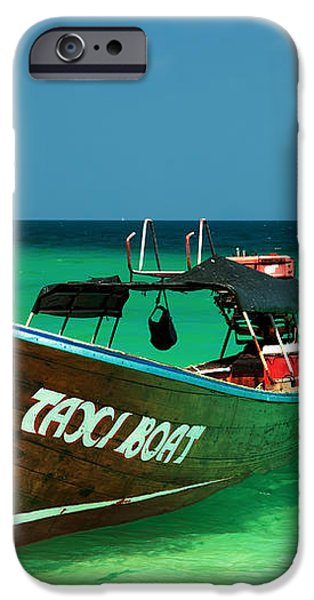 Taxi Boat iPhone Case by Adrian Evans