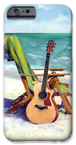 Best Sellers -  - Beach Landscape iPhone Cases - Taylor at the Beach iPhone Case by Andrew King