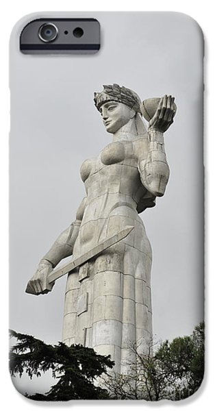 Tbilisi Photographs iPhone Cases - Tbilisi Mother of Georgia statue iPhone Case by Amos Gal