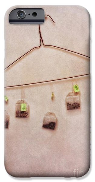 tea bags iPhone Case by Priska Wettstein