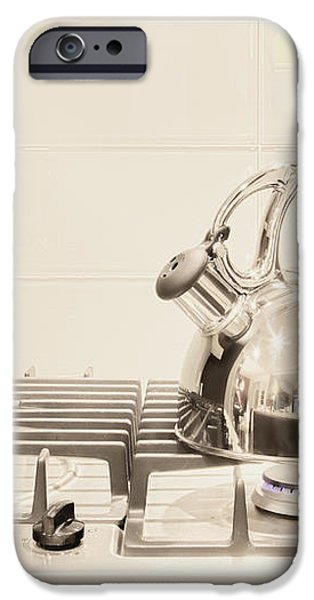 Tea Kettle on Stove iPhone Case by Andersen Ross
