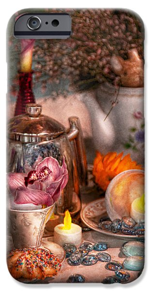 Tea Party Photographs iPhone Cases - Tea Party - I would love to have some tea  iPhone Case by Mike Savad