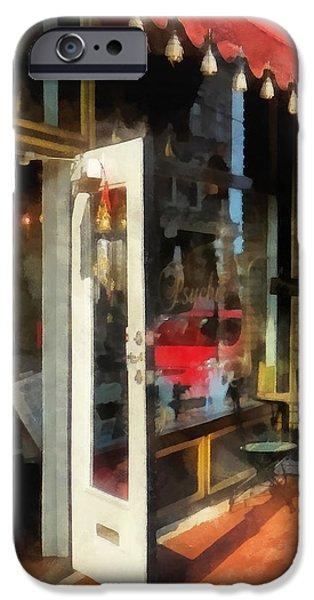 Tea Room in SoNo Norwalk CT iPhone Case by Susan Savad