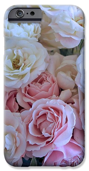 Tea Time Roses iPhone Case by Carol Groenen