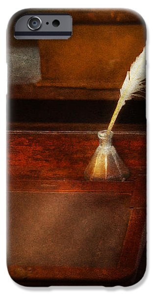 Teacher - The writing desk iPhone Case by Mike Savad
