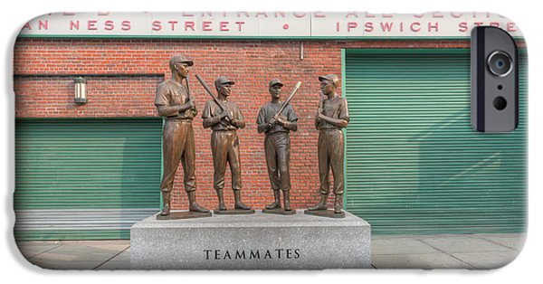 Fenway Park iPhone Cases - Teammates iPhone Case by Clarence Holmes