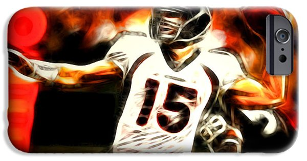 Tebow iPhone Cases - Tebow iPhone Case by Paul Van Scott