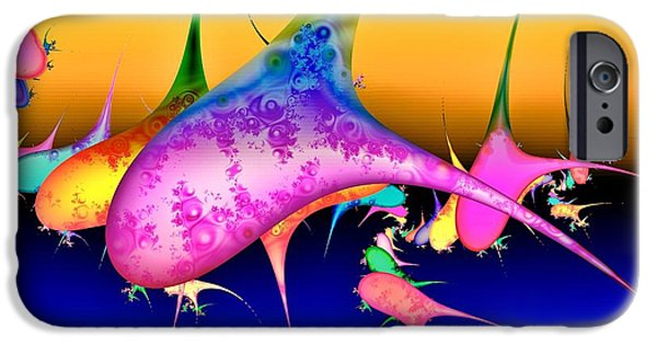 Whale Digital iPhone Cases - Techno pod iPhone Case by Sharon Lisa Clarke