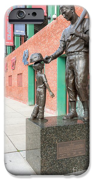 Fenway Park iPhone Cases - Teddy Ballgame iPhone Case by Clarence Holmes