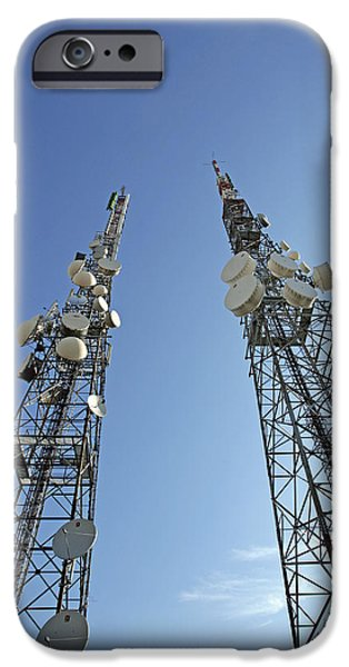 Telecommunications Masts iPhone Case by Carlos Dominguez