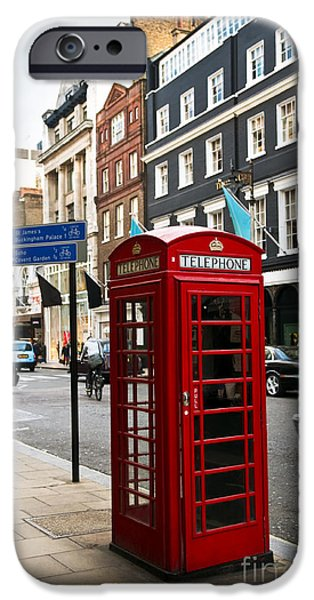 Telephone box in London iPhone Case by Elena Elisseeva