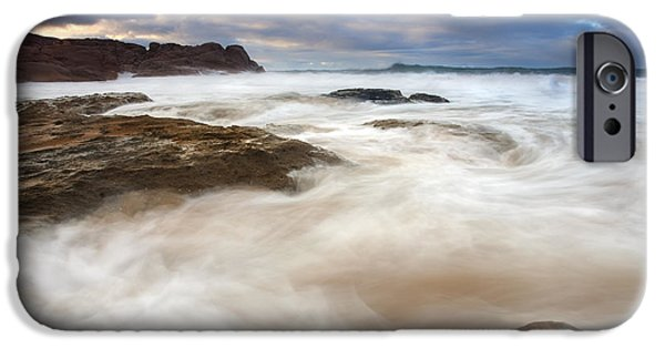Fleurieu Peninsula iPhone Cases - Tempestuous Sea iPhone Case by Mike  Dawson