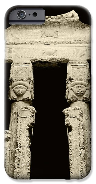 Hathor iPhone Cases - Temple Of Hathor iPhone Case by Photo Researchers, Inc.