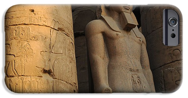 Karnak iPhone Cases - Temple of Luxor  Egypt iPhone Case by Bob Christopher
