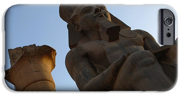 Karnak iPhone Cases - Temple of Luxor Ramses ll iPhone Case by Bob Christopher