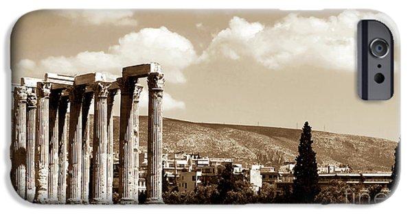 Zeus iPhone Cases - Temple of Zeus iPhone Case by John Rizzuto