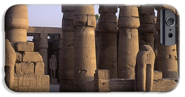 Karnak iPhone Cases - Temple Ruins at Karnak, Luxor, Egypt iPhone Case by Will & Deni McIntyre
