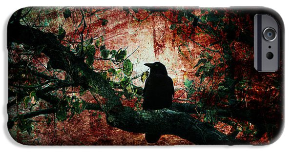 Crows iPhone Cases - Tempting Fate iPhone Case by Andrew Paranavitana