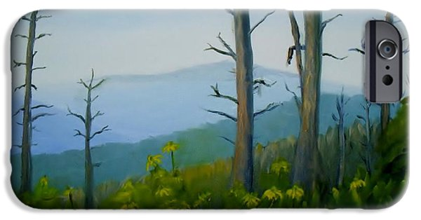 Smokey Mountains Paintings iPhone Cases - Tennessee Mts. iPhone Case by Phebe Smith